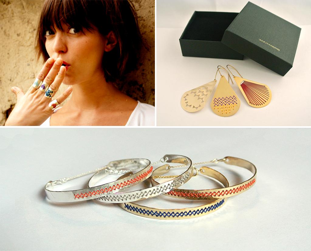 Louise Vurpas : des bijoux brodés
