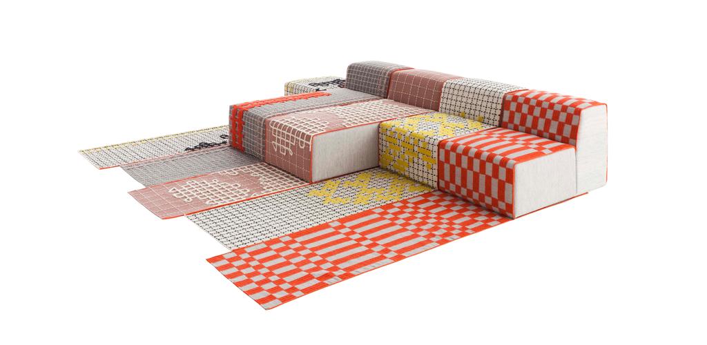Le mobilier design flexible en tissu, couture et broderie