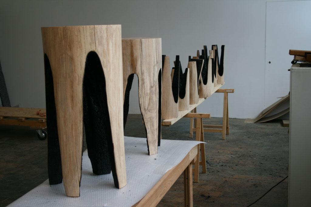 Die Baumbank, le travail du bois du designer Kaspar Hamacher