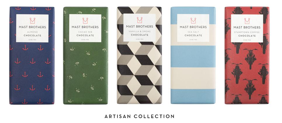Chocolat : autant de packagings que de discours de marques - mast brothers