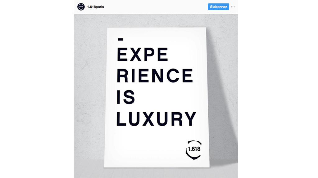 1.618 Sustainable Luxury - compte Instagram ©1.618 Sustainable Luxury