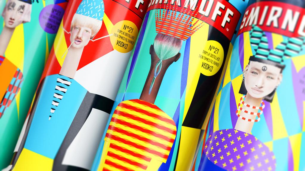 Smirnoff x HP x Yarza Twins : un packaging de marque pleine de créativité